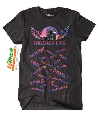 Tricou Trucker Life - Mercedes