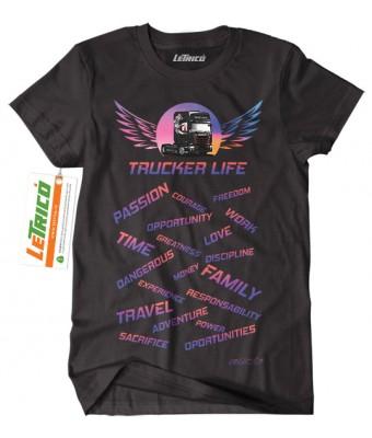 Tricou Trucker Life - Scania