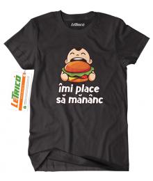 Tricou Îmi Place Să Mănânc - Plus