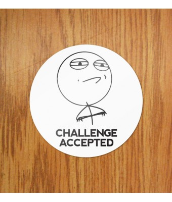 Sticker Challenge Accepted